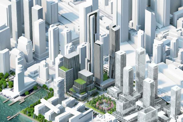 Redeveloping the Toronto Star lands, designed by Hariri Pontarini for Pinnacle International