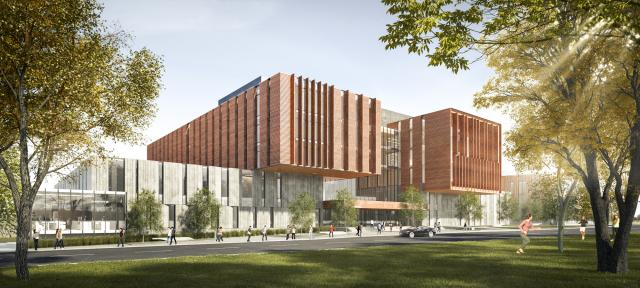 North Building Reconstruction Phase B, exterior, image courtesy of University of Toronto
