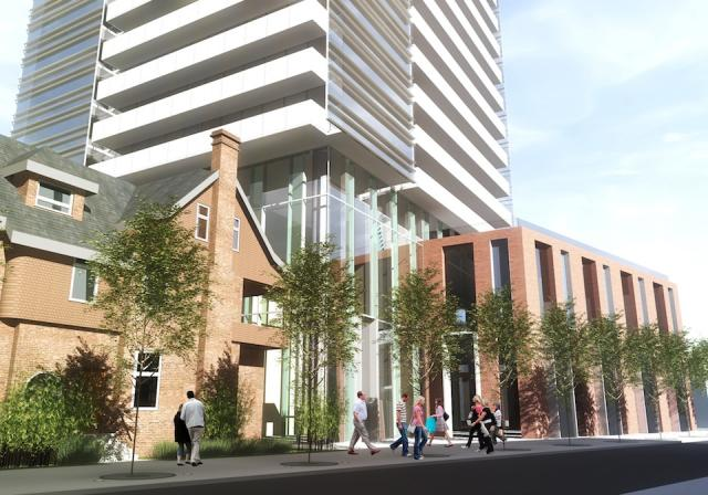 Early concept, Block 1 Building east view along Howard, image by architectsAlliance