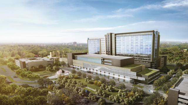 Humber River Hospital, view looking northwest, image courtesy of Plenary Health Care