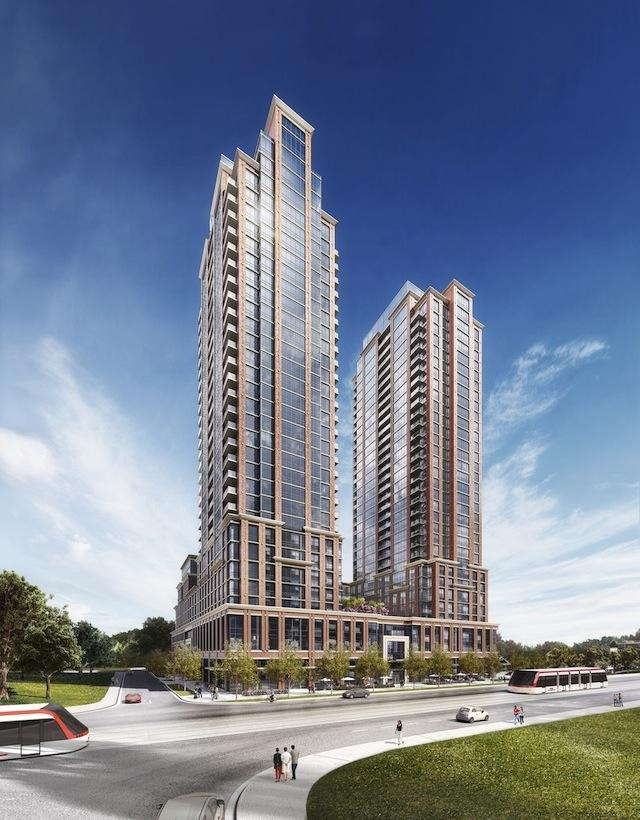 Pinnacle Toronto East will consist of two 30-storey towers and a shared podium, image courtesy of City Core Developments