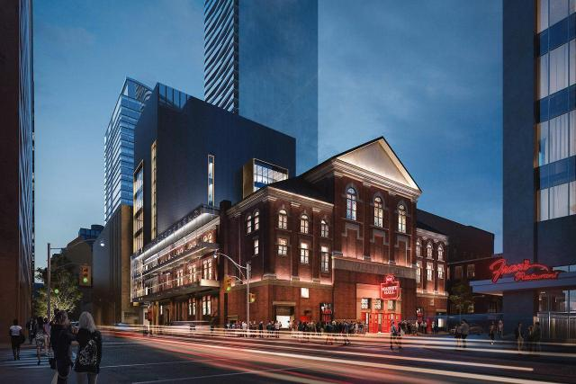 Massey Hall Addition and Renovations Concept, rendering by Norm Li for KPMB Architects