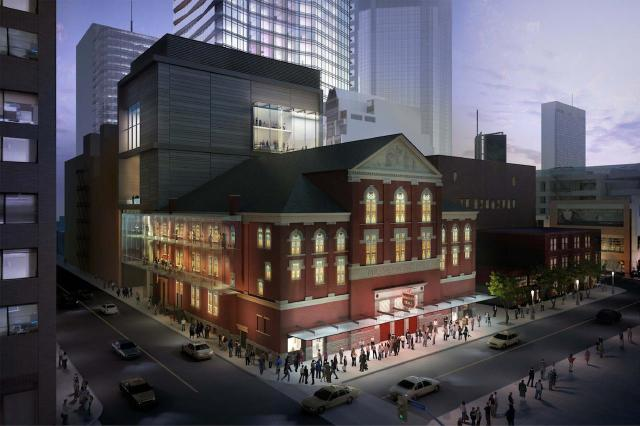 Massey Hall Addition and Renovations Concept, rendering by Cicada Design for KPMB Architects