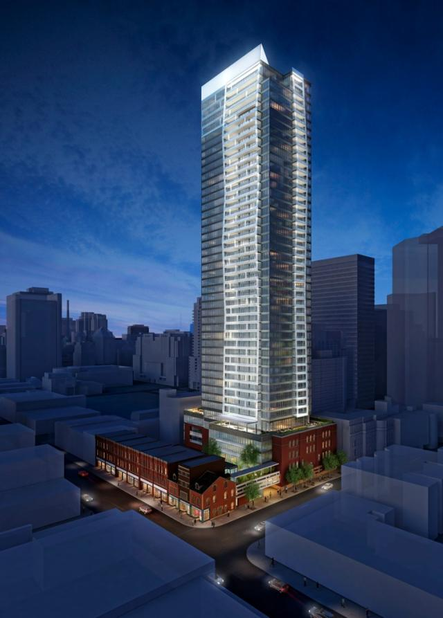 Five St. Joseph condos Toronto. Developed by Graywood and MOD Developments