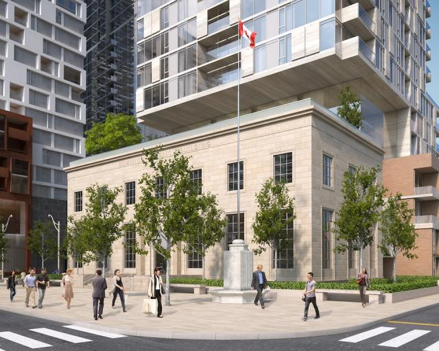 Southwest view, Montgomery Square by RAW Design for The Rockport Group