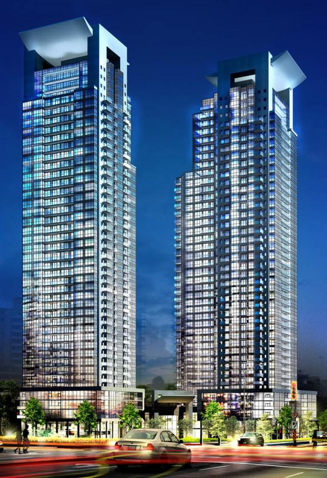 Gibson Square Condominiums, image courtesy of Menkes