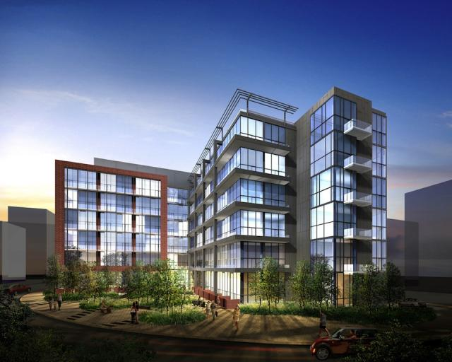 Liberty Market Lofts, image courtesy of Lifetime & BLVD Developments