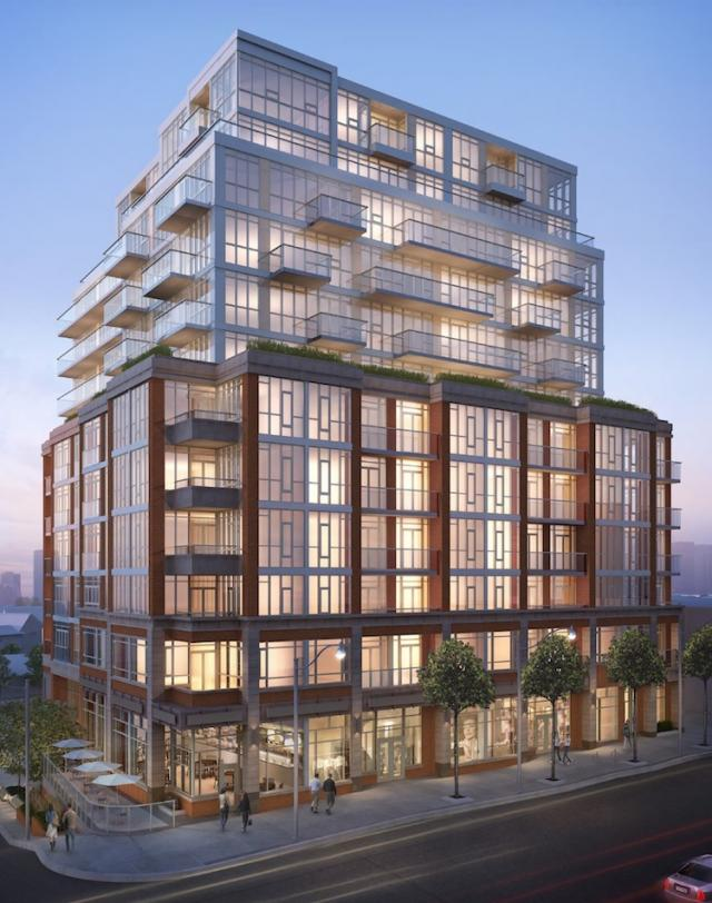 Address at High Park condos Toronto by Chestnut Hill and Quadrangle Architects