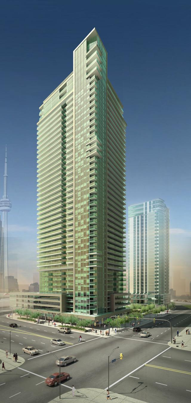 52-storey Residences of 33 Bay (Tower D) at Pinnacle Centre, Toronto Condos by Pinnacle International, Page + Steele Architects