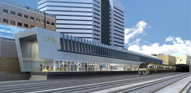 Union Pearson Express, Union Station, image courtesy of Metrolinx