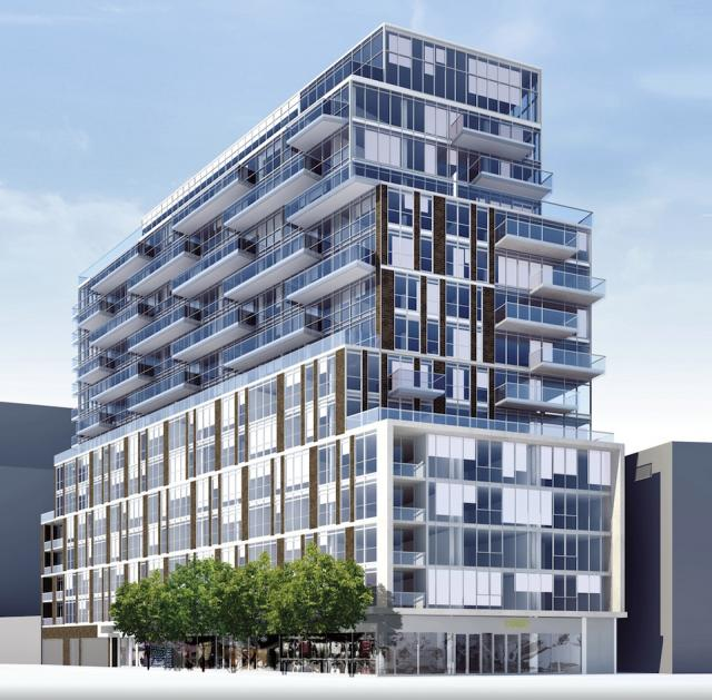 The King East Condo by Lamb Development Corp., east side rendering
