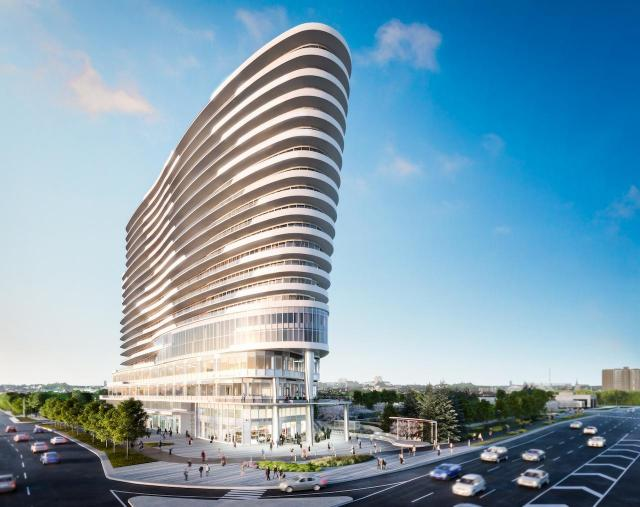 Arc at Daniels at Erin Mills, hero shot, by Kirkor Architects for The Daniels Corporation