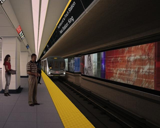 Union Subway Station: New South Platform, image courtesy of the TTC