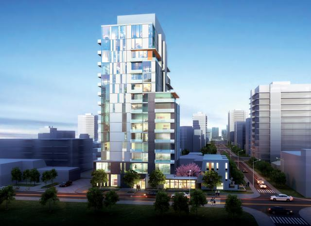 Nola Port Credit Condos, designed by Giannone Petricone for Fram Building Group and Slokker