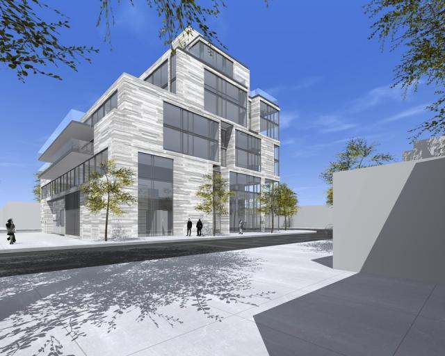 Westward view, 2265 Bloor Street West by TACT Design for Harrington Developments Ltd