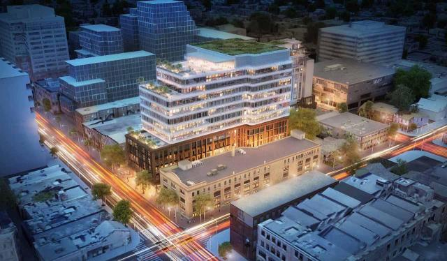 King Portland Centre, looking northwest, design by Hariri Pontarini Architects for Allied REIT and RioCan