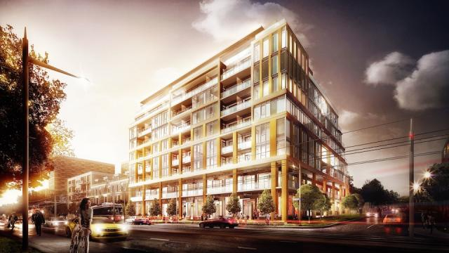 The Code Condos, St. Clair side, design by Hariri Pontarini Architects for BLVD Developments and Lifetime Developments