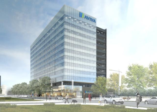 Aviva Canada in Downtown Markham, image courtesy of the Remington Group