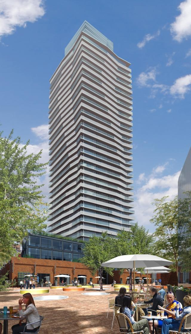 Gooderham Condominiums at the Distllery, image courtesy of Cityscape and Dundee Realty