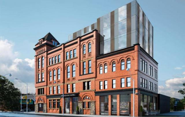 Rendering of the New Broadview Hotel