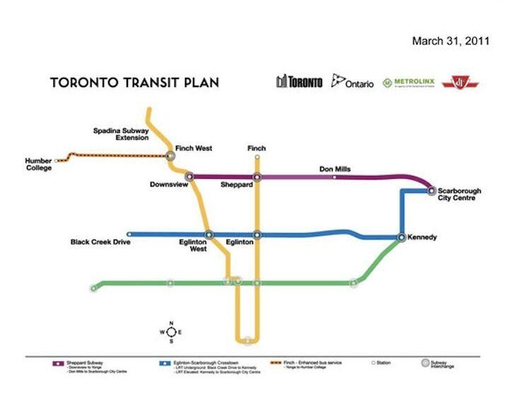 a new 12 4 billion transit plan for toronto urban toronto. Black Bedroom Furniture Sets. Home Design Ideas