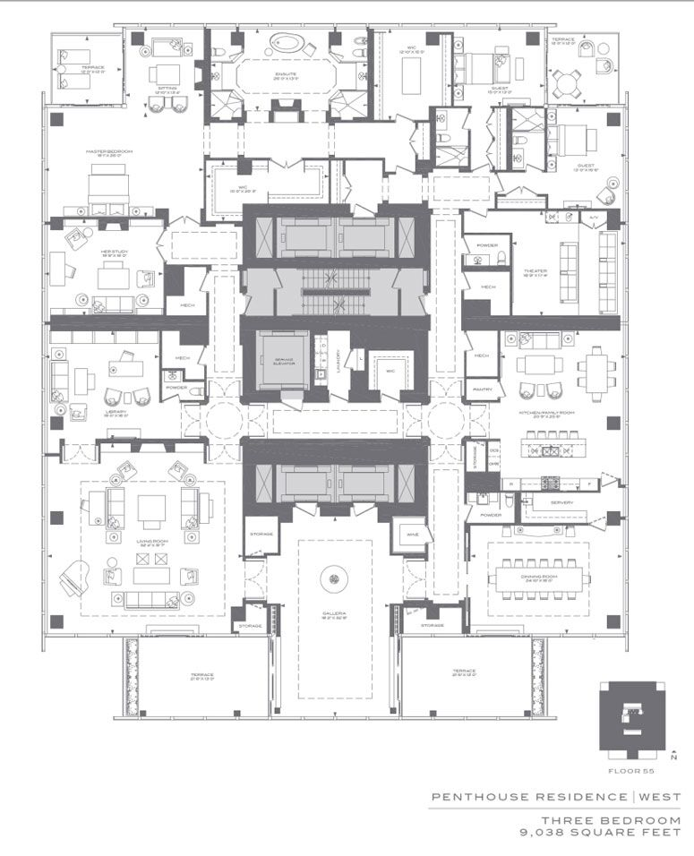 Menkes and lifetime developments 39 four seasons hotel and for Apartment floor plans toronto