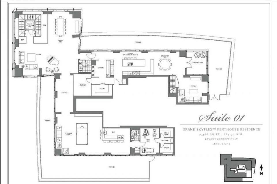 What The Three Storey Penthouse Unit At Trump