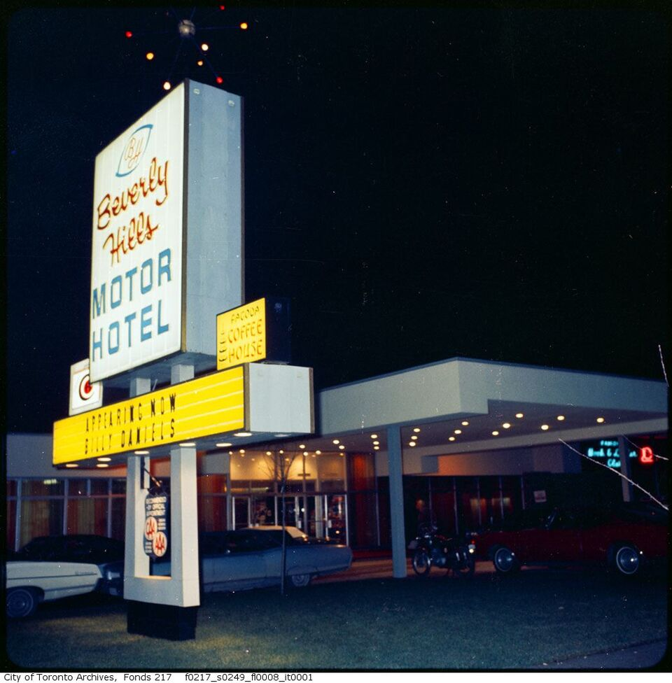 Then and now the beverly hills motor hotel urban toronto for Motor inn city ave
