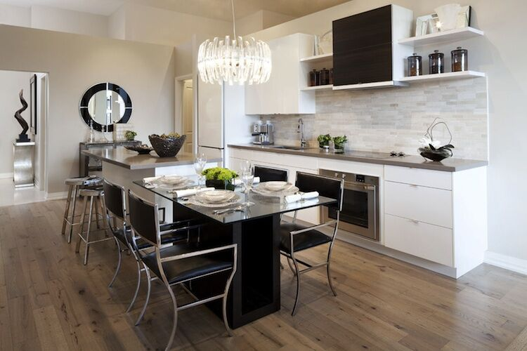 Ocean Club In Toronto By Graywood And Beaverhall, Page + Steele Architects  Model Suite Kitchen.