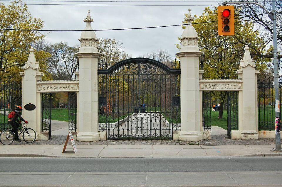 Then And Now Trinity College Gates Urban Toronto
