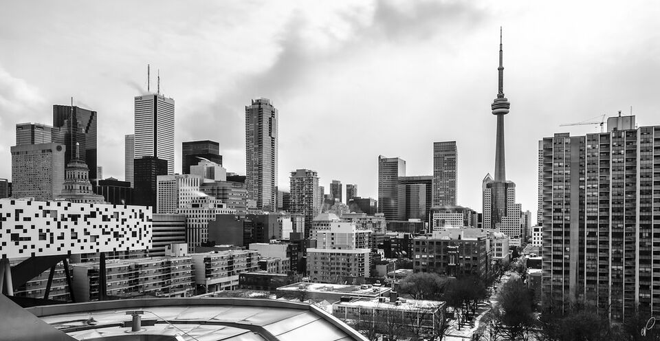Toronto in black and white