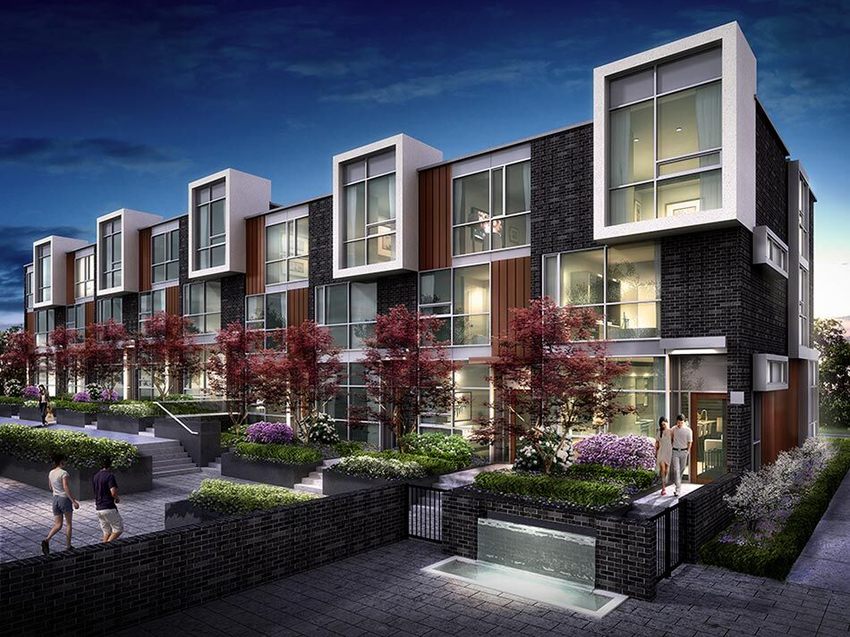 101 erskine offers high rise views and ground level for Elevator townhomes