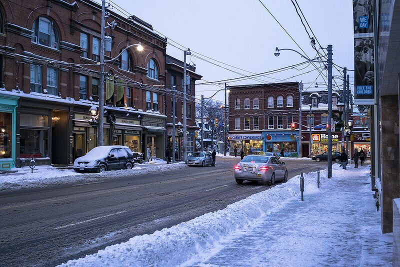 Photo Of The Day Snowy Cabbagetown Urban Toronto