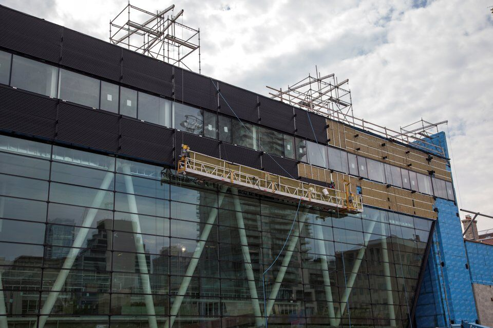 Cladding Installation Under Way at U of T Goldring Sports plex