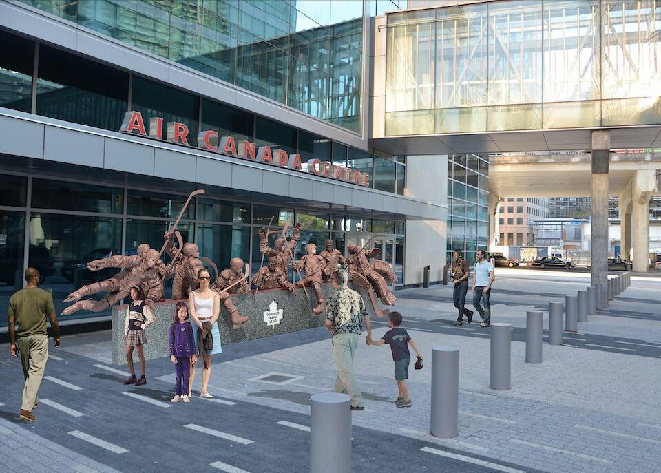 917329d7c01 Leafs Unveil Plans for  Legends Row  Sculpture at Maple Leaf Square ...