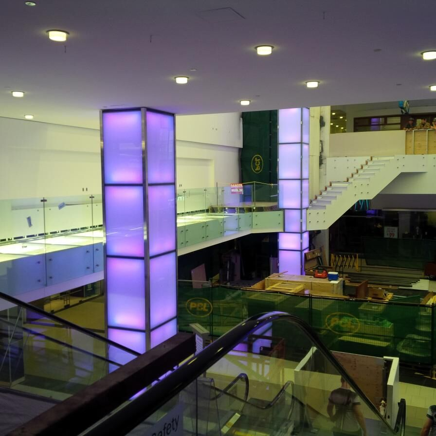 Illuminated Columns In The Malls Interior Image By Forum Contributor Roundabout