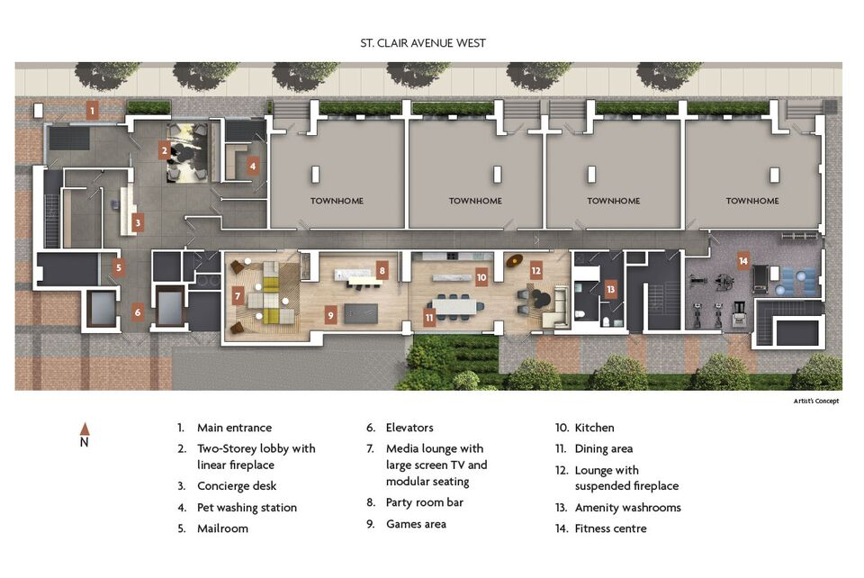 A look at zigg condos 39 indoor and outdoor amenity spaces for Condominium building plans
