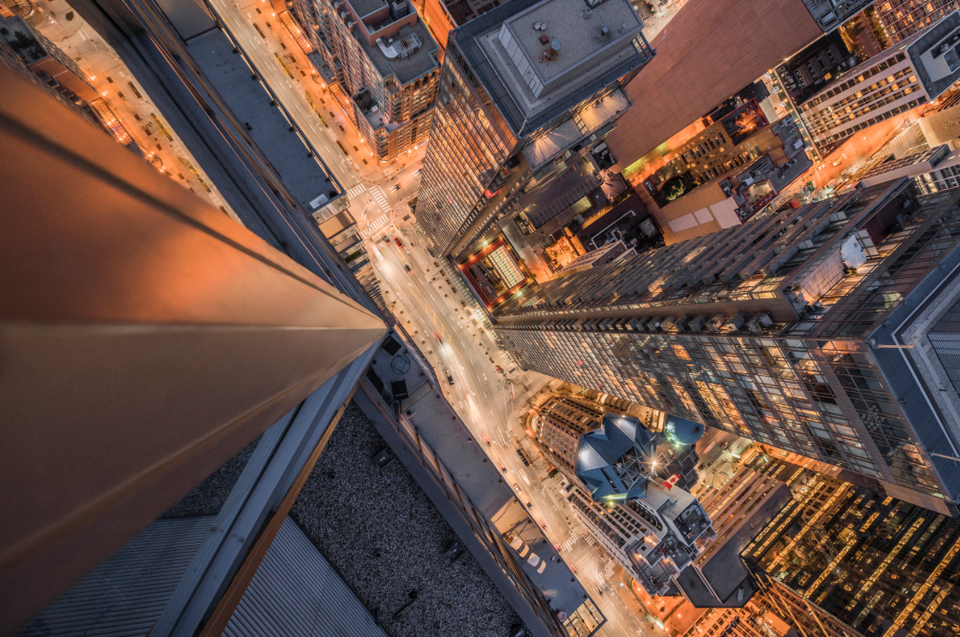 Photo Of The Day Bay Street Vertigo Urban Toronto