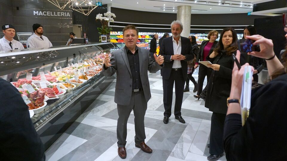 John Mastroianni and Frank Luchetta open Pusateri s Food Hall at Saks Fifth  Avenue at Sherway Gardens 2d02b58a746ef