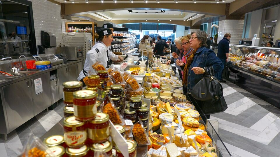 Cheese tasting at Pusateri s Food Hall in Saks Fifth Avenue at Sherway  Gardens c25c81199aece