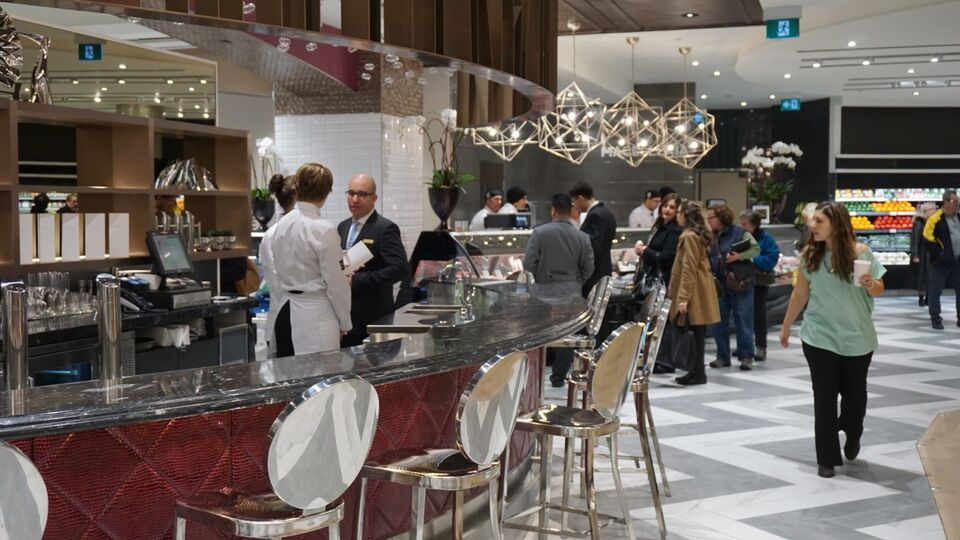 The champagne bar at Pusateri s Food Hall in Saks Fifth Avenue at Sherway  Gardens 8d7ce3f26365c