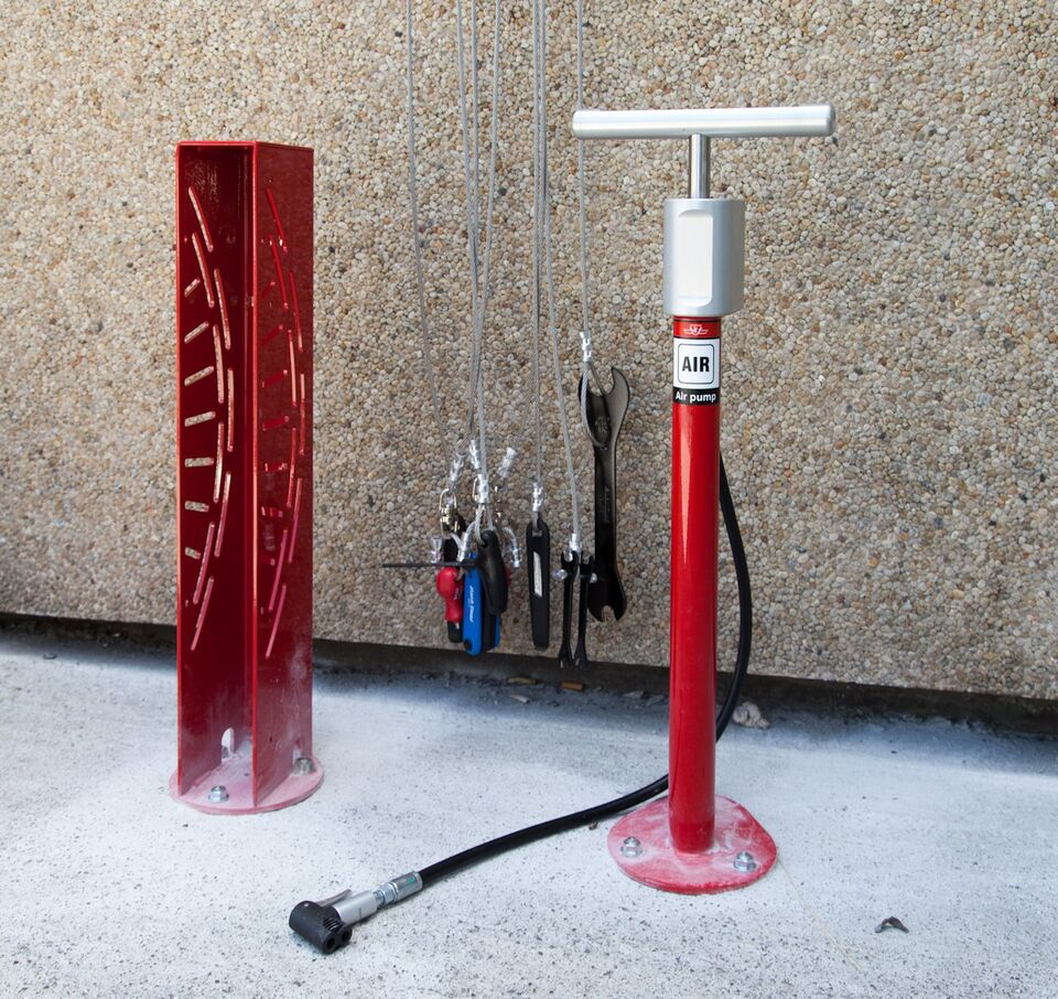 20 new bicycle repair stations installed at ttc subway. Black Bedroom Furniture Sets. Home Design Ideas