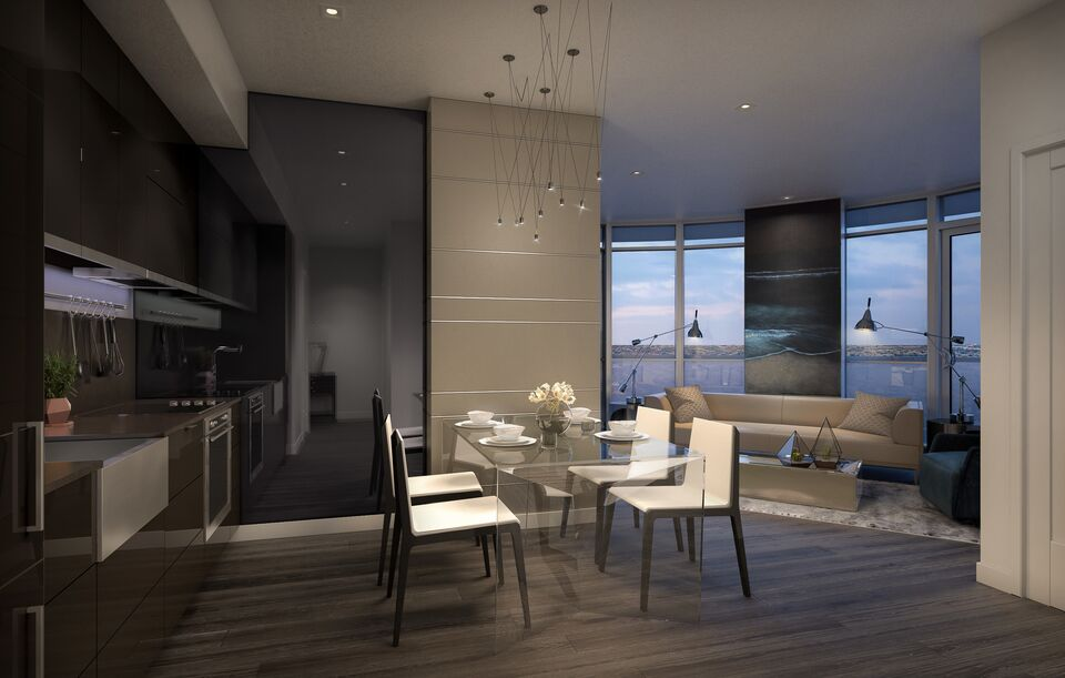 Rendering of suite interior at The Kennedys image courtesy of SAMM Developments & A First Look at Suite Interiors for The Kennedys Condominiums ...