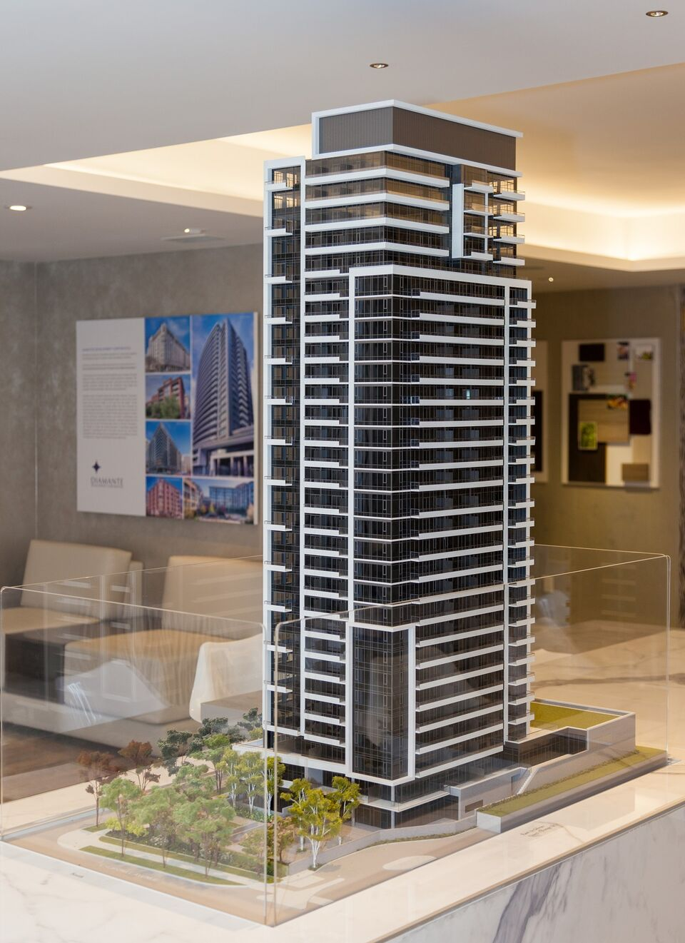 Scale Model Showcases Diamond Condominiums On Yonge