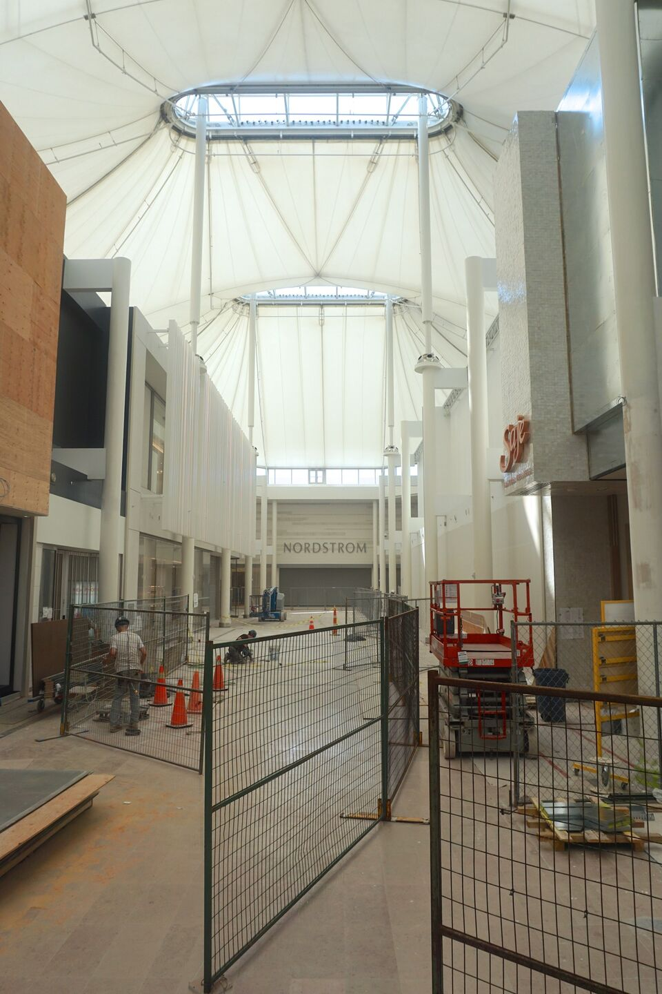 2f9aa73fe2ce The rebuilt south hall at Sherway Gardens coming together last week